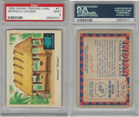"1959 Fleer, Indian Trading, #21 Seminole ""Chickee"", Florida, PSA 9 Mint"