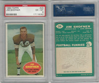 1960 Topps Football, #29 Jim Shofner RC, Cleveland Browns, PSA 6 EXMT