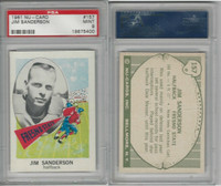 1961 Nu-Card Football, #157 Jim Sanderson, Fresno State, PSA 9 Mint