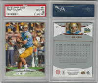 2012 Upper Deck Football, #47 Troy Aikman, UCLA Bruins, PSA 10 Gem