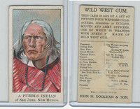 E50 Dockman, Wild West Gum, 1920's, A Pueblo Indian, San Juan New Mexico