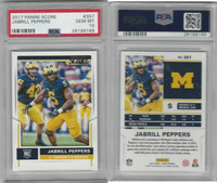 2017 Panini Score Football, #357 Jabrill Peppers, University Michigan, PSA 10 Gem