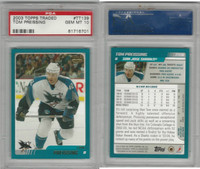 2003 Topps Traded Hockey, #TT139 Tom Preissing, Sharks, PSA 10 Gem