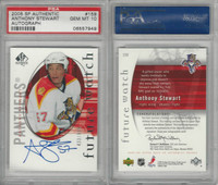 2005 U.D. SP Authentic Hockey, #159 Anthony Stewart AUTO, Panthers, PSA 10 Gem