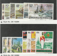 Norfolk Island, Postage Stamp, #293-298, 299-305 Mint NH, 1982 Ship