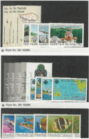 Norfolk Island, Postage Stamp, #306-22, 339-42 Mint NH, 1983 Fish, Map, Plane