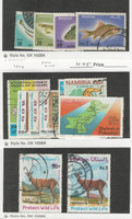 Pakistan, Postage Stamp, #348-51, 364-70, 410-11 Used, 1973-6 Fish, Map