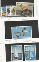 Pakistan, Postage Stamp, #584-7, 592, 601-2 Used, 1983 Sailboat, Bird, Animal