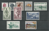 Papua New Guinea, Postage Stamp, #153-162 Mint NH, 1961-63 (p)