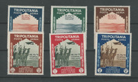 Tripolitania, Postage Stamp, #C43-C48 Mint LH, 1934 Camel, Airplane (p)