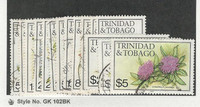 Trinidad & Tobago, Postage Stamp, #392-406 Used, 1983 Flowers
