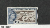 Turks & Caicos, Postage Stamp, #131 Mint LH, 1957 Salt Cat