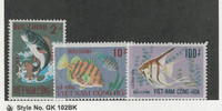 Vietnam, Postage Stamp, #402-404 Mint LH, 1971 Fish