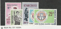 Vietnam, Postage Stamp, #428-432 Mint Hinged, 1972