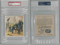 1885 H606 J&P Coats, Uniforms US Army, 1858-61 Gen. Scott, PSA 4.5 VGEX+, ZQL