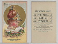 1890's Columbia Baking Powder, Chicago & St. Paul, Minerva, ZQL