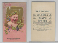 1890's Columbia Baking Powder, Chicago & St. Paul, Bacchus, ZQL