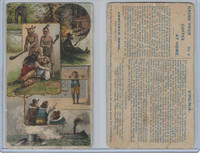 1890 K5 Arbuckle, History of U.S., #6 Virginia, Pocahontas, Monitor, ZQL