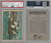 1961 Leaf, Famous Discoveries, #13 North America, John Cabot, PSA 8 NMMT