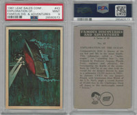 1961 Leaf, Famous Discoveries, #43 Ocean, Submarine, PSA 9 Mint