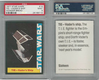 1977 Wonder Bread, Star Wars, #16 Tie-Vader's Ship, PSA 9 Mint