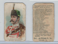 E1 Breisch, Army Cards, 1910, #1 Austria-Hungary Body Guard