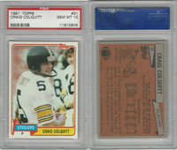 1981 Topps Football, #31 Craig Colquitt, Steelers, PSA 10 Gem