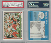 1983 Fleer Action Football, #23 Kansas City Chiefs, PSA 10 Gem