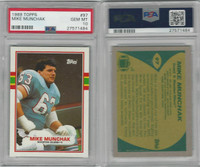 1989 Topps Football, #97 Mike Munchak, Oilers, PSA 10 Gem