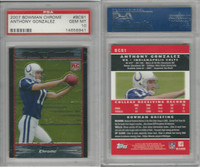 2007 Bowman Chrome Football, #BC81 Anthony Gonzalez RC, Colts, PSA 10 Gem