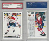 1992 Upper Deck Hockey, #54 Al Iafrate, Capitals, PSA 10 Gem