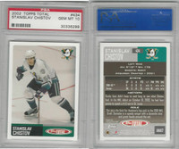 2002 Topps Total Hockey, #434 Stanislav Chistov, Ducks, PSA 10 Gem