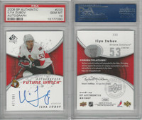 2008 Upper Deck SP Authentic Hockey, #233 Iyla Zubov AUTO, PSA 10 Gem