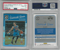 2016 Panini Donruss Basketball, #62 Derrick Rose, Holo, Knicks, PSA 10 Gem