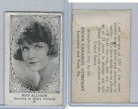 E123-2 American Caramel, Movie Actors - Series 120, 1921, #6 May Allison