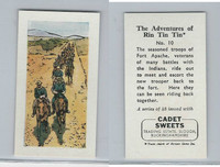 1960 Cadet Sweets, Rin Tin Tin Card, #10, ZQL