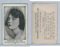 E123-2 American Caramel, Movie Actors - Series 120, 1921, #10 Dorothy Dalton