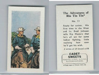 1960 Cadet Sweets, Rin Tin Tin Card, #11, ZQL