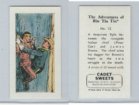 1960 Cadet Sweets, Rin Tin Tin Card, #12, ZQL