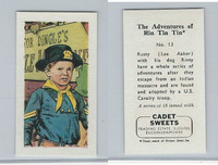 1960 Cadet Sweets, Rin Tin Tin Card, #13, ZQL