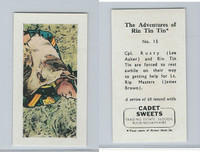 1960 Cadet Sweets, Rin Tin Tin Card, #15, ZQL