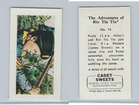 1960 Cadet Sweets, Rin Tin Tin Card, #16, ZQL