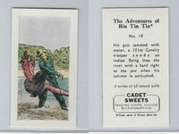 1960 Cadet Sweets, Rin Tin Tin Card, #18, ZQL