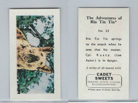 1960 Cadet Sweets, Rin Tin Tin Card, #23, ZQL