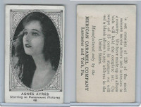 E123-2 American Caramel, Movie Actors - Series 120, 1921, #48 Agnes Ayres