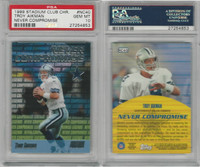 1999 Topps Stadium Chrome Football, #NC40 Troy Aikman, Cowboys, PSA 10 Gem
