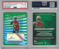 2005 Topps Finest Football, #FAAM Adrian McPherson AUTO, Saints, PSA 10 Gem
