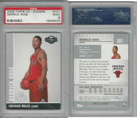 2008 Topps Co-Signers Basketball, #101 Derrick Rose, Bulls, PSA 9 Mint