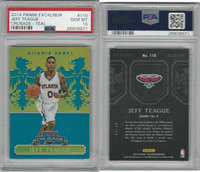 2014 Panini Excalibur Basketball, #110 Jeff Teague, Hawks. Teal, PSA 10 Gem