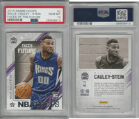 2015 Panini Hoops Basketball, #2 Willie Cauley Stein RC, Kings, PSA 10 Gem